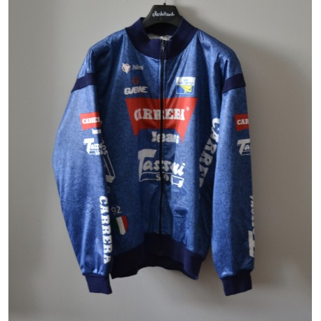 MAGLIA GIUBBOTTO  CICLISMO tg.7  JACKET CICLISMO TEAM CARRERA JEANS 92' CYCLES  BICI ITALY STRADA