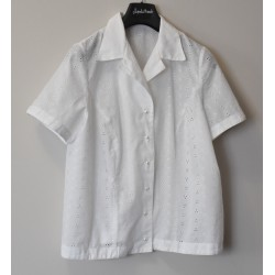 CAMICIA  BIANCA IN  PIZZO  tg.50/52