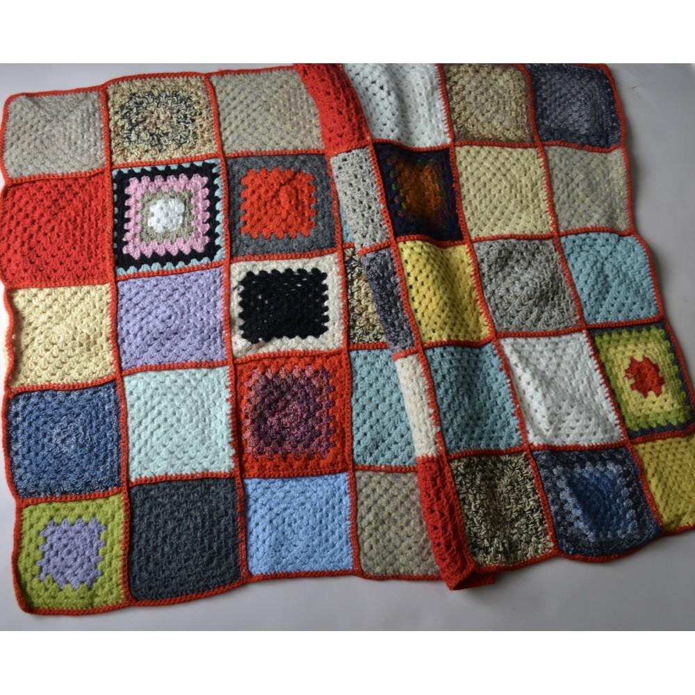 Plaid Fatto Ai Ferri dettagli su coperta per lettino plaid realizzato ad uncinetto 120x80 cm