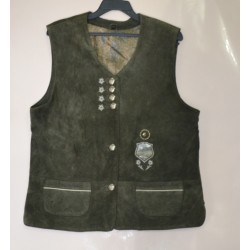 GILET  CORPETTO IN PELLE  TIROLESE Tg.40/42