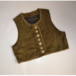 GILET  CORPETTO IN PELLE  TIROLESE Tg 46  Country Line