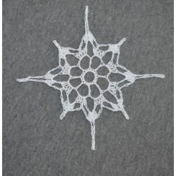 * Stella/ Fiocco di neve * realizzato a mano ad uncinetto